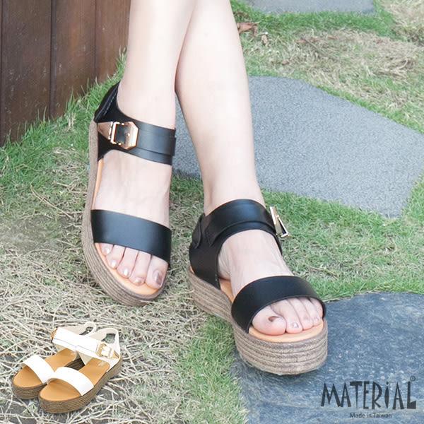 涼鞋 橫帶繞踝金屬裝飾涼鞋 MA女鞋 T2948