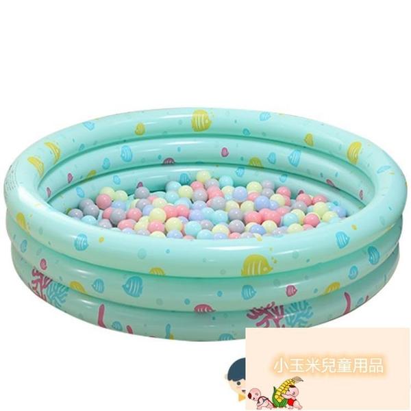 兒童充氣球池室內家庭三環家用水池嬰兒海洋游泳池加厚