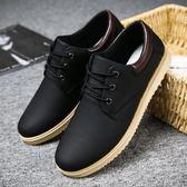 休閒鞋 男士韓版潮流板鞋 百搭鞋透氣防水皮鞋 【非凡上品】j536
