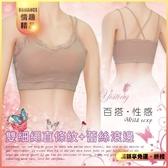 性感內睡衣【快速出貨】居家睡衣 推薦 直條紋雙細繩蕾絲滾邊小可愛內衣