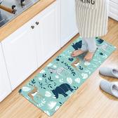 廚房/臥室/地墊/頂級PVC皮防水防滑皮革地墊45X150CM/草原斑馬【半島良品】