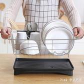不銹鋼廚房置物架餐具洗放盤子置放碗碟盤收納架瀝水碗架 nm5627【pink中大尺碼】