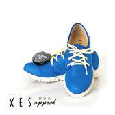 XES 女鞋 運動休閒鞋 超透氣運動休閒 顯色亮眼  藍色