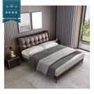 【新竹清祥家具】PBB-11BB08- 現代牛皮6尺皮床 床架 臥室 簡約 時尚 民宿 雙人加大 設計師
