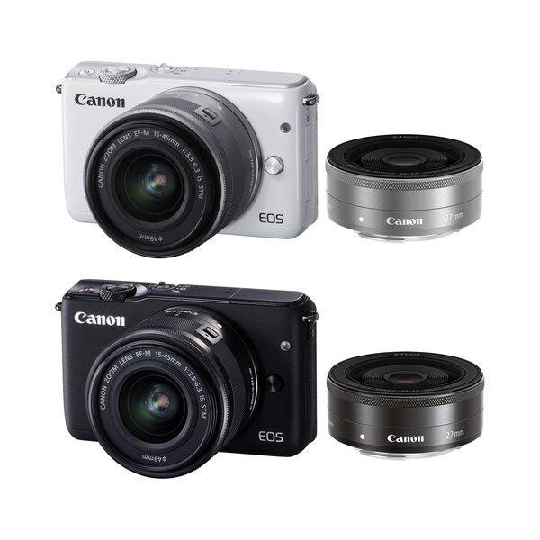【聖影數位】Canon EOS M10 [15-45mm + 22mm 雙鏡組] 公司貨 微單眼相機 無反