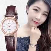 手錶chic防水網紅手錶女學生正韓簡約時尚潮流皮帶休閒大氣 快速出貨