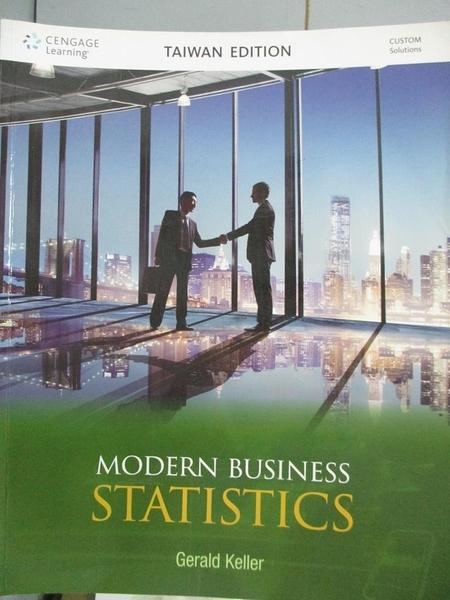 【書寶二手書T5/大學商學_XER】Modern business statistics_Gerald Keller[作