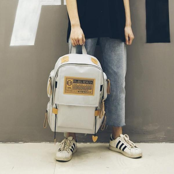 後揹包-後揹包男韓版原宿ulzzang高中學生書包女校園大容量旅行包潮揹包 依夏嚴選