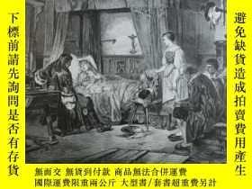 二手書博民逛書店【罕見】1883年木刻版畫《Die Raft auf der f