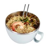 (交換禮物)【日用百貨】創得304不銹鋼大號泡面碗密封帶蓋泡面杯方便面碗