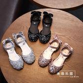 女童皮鞋 亮片單鞋涼鞋韓公主鞋