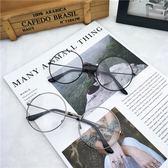 圓形框平光鏡 白色鏡片護目鏡爆款文藝范男女小圓框眼鏡