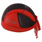 自行車頭巾 吸汗-簡約紅色素面設計男女單車運動頭巾73fo20【時尚巴黎】