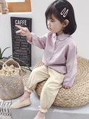 女童韓版長袖襯衫2018秋裝新款兒童寶寶男純棉襯衣休閒上衣