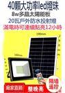 太陽能感應燈 20瓦戶外投射燈    8瓦多晶太陽能版 無紅外線遙控器