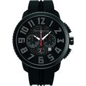 Tendence 天勢 Gulliver 立體休閒計時手錶-IP黑/47mm TY460014