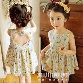 女童洋裝-女童年新款韓版童裝夏中小童小碎花棉布洋裝露背兒童裙子潮 現貨快出