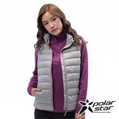 PolarStar 女 輕量羽絨背心『淺灰』 P18240 戶外 休閒 登山 露營 保暖 禦寒 防風 鋪棉 羽絨 夾克