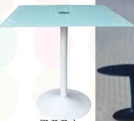 【南洋風休閒傢俱】餐桌系列 –70cm方玻璃桌 休閒桌 洽談桌 餐桌(588-1)