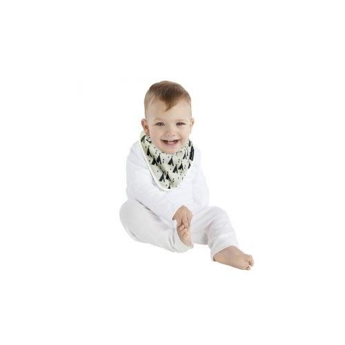 紐西蘭 Mum 2 Mum 雙面竹纖維棉機能口水巾圍兜-印地安帳篷/X號[衛立兒生活館]