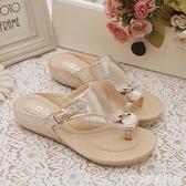人字拖時尚防滑夏季涼拖外出沙灘鞋孕婦平底拖鞋女夏新款外穿 居家物語