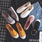 小白鞋女夏款帆布鞋韓版百搭學生夏季新款平底懶人一腳蹬布鞋  探索先鋒