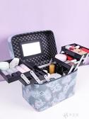 化妝收納包 新款便攜化妝包可愛日繫女手提收納盒品大容量箱裝lolita網紅 伊芙莎