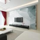 北歐風格電視背景牆壁紙簡約現代5D幾何牆紙客廳大氣無縫影視牆布 樂活生活館
