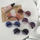 網紅街拍墨鏡女2019新款韓版潮復古原宿風太陽眼鏡漸變色防紫外線