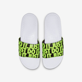 Nike Benassi JDI Print [631261-103] 男鞋 拖鞋 涼鞋 運動 休閒 雨天 海邊 白綠
