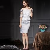 一字領露肩上衣+短裙(兩件套)-歐美優雅氣質修身女裙裝73lk24【巴黎精品】