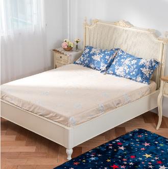 【Jenny Silk名床】夢之藍.100%天絲.超柔觸感.加大雙人床包組
