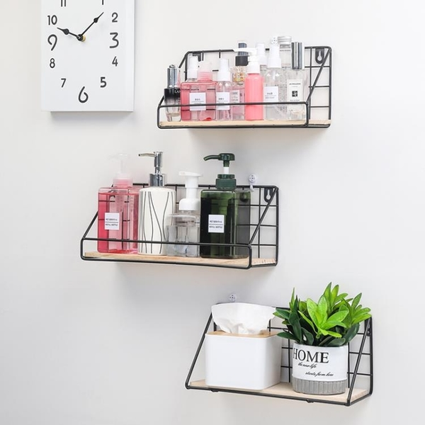 宿舍收納架墻上置物架化妝品整理架【聚寶屋】