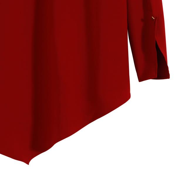 【MASTINA】不對稱造型上衣-深紅 0604