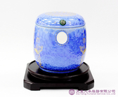 【大堂人本】藍陶瓷 經文骨灰罐