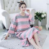 純棉短袖寬鬆哺乳睡衣月子服薄款LJ5196『夢幻家居』