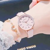 可愛少女手表ins風簡約氣質女孩防水獨角獸韓版中學生日系櫻花粉 怦然新品