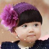 UNICO   韓版 兒童假瀏海髮帶(浪漫紫花朵款)