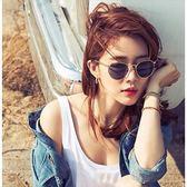 現貨-韓國ulzzang時尚百搭太陽眼鏡復古新款太陽鏡情侶金屬框太陽眼鏡男女同款ins墨鏡圓 247