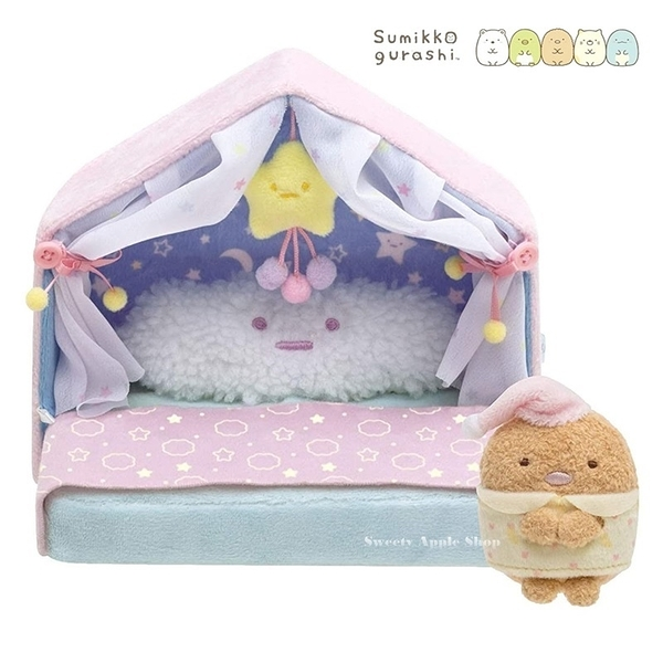 【SAS】日本限定 角落生物 豬排&星星之屋睡床 玩偶套組