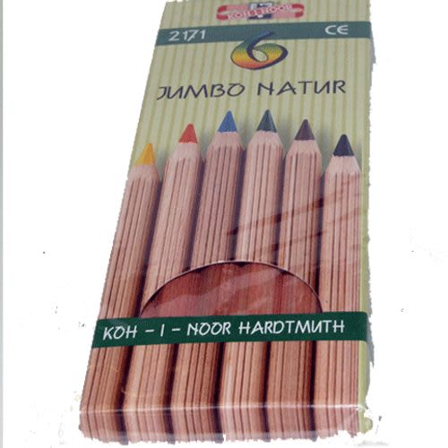 KOH-I-NOR 高質感原木6色大三角油性鉛筆*2171