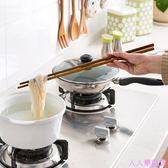 鐵木超長撈面筷子廚房木質快子 家用日式餐具加長油炸木筷