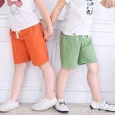 短褲夏薄款夏裝童裝五分褲子男童中褲女童沙灘打底褲 一米陽光