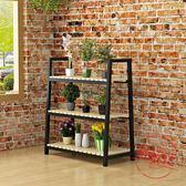 鐵藝花架多層歐式吊蘭花盆架室內綠蘿落地多肉植物架陽台實木花架【限量85折】