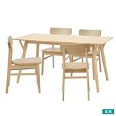 ◎木質餐桌椅五件組 FILLN3-M LBR NITORI宜得利家居