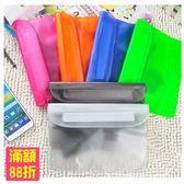 三層夾鏈 防水腰包 防水袋 漂流袋 手機 相機 防水收納袋 防水套 手機包 顏色隨機(V50-1203)