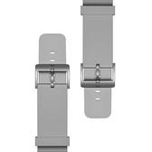 小米智能手表氟橡膠表帶原裝替換備用表帶多色可選科技銀典雅黑 宜品
