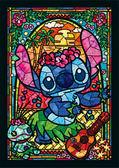 【拼圖總動員 PUZZLE STORY】彩繪玻璃-史迪奇 日系/Tenyo/星際寶貝/266P/迷你/透明塑膠