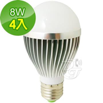《一打就通》晶冠 8W白光節能LED 燈泡 JG-LED800W (4入)