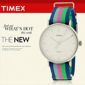TIMEX 美國第一品牌 Waterbury INDIGLO 夜光指針錶 天美時 帆布 學院風 文青 TW2P91700
